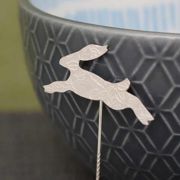 silver hare brooch pin from Joanne Tinley Jewellery