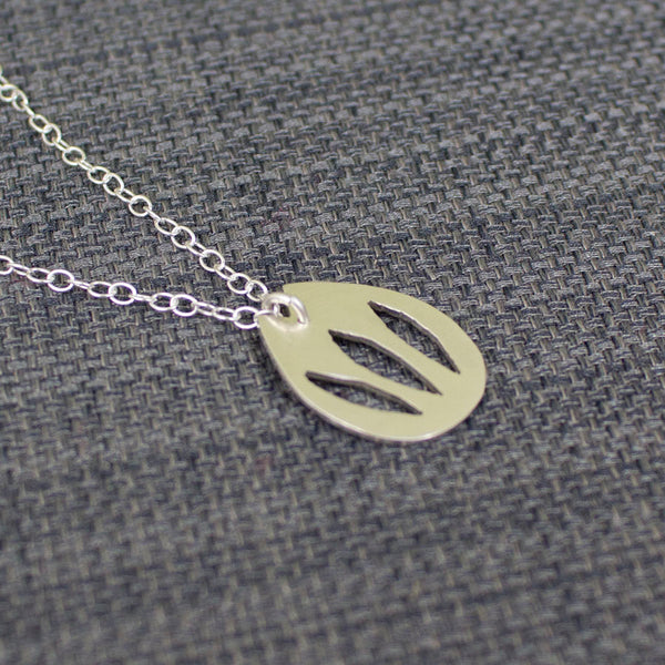 silver tulip flower pendant necklace from Joanne Tinley Jewellery