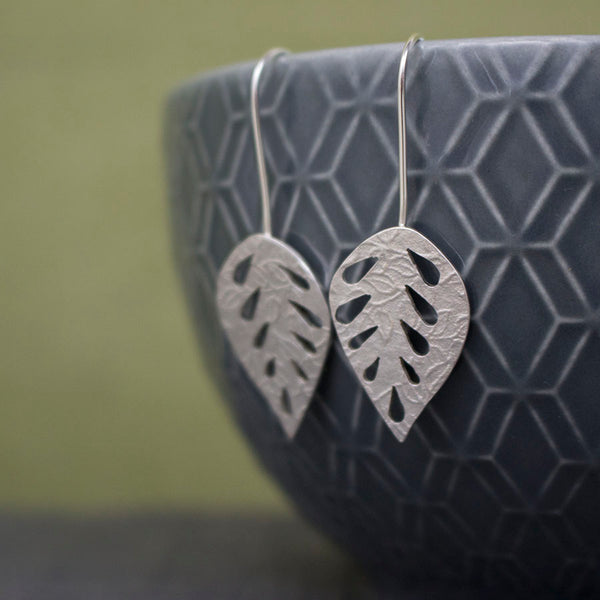 silver leaf earrings from Joanne Tinley Jewellery