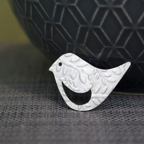 sterling silver bird pin at Joanne Tinley Jewellery