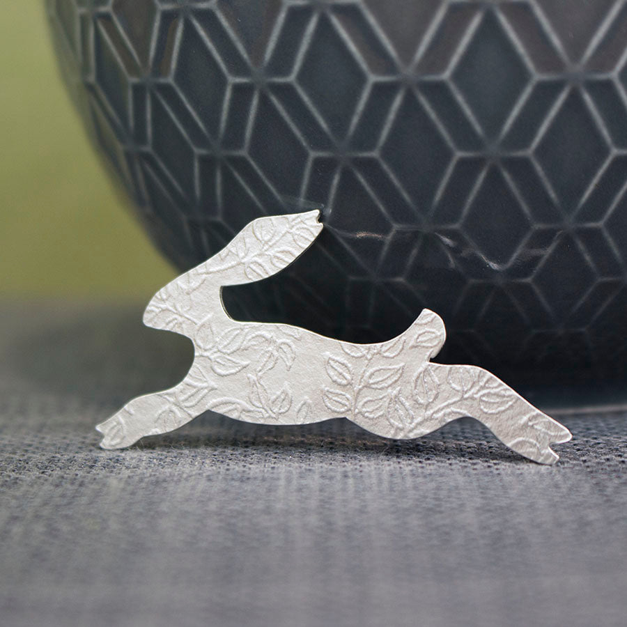 sterling silver hare pin at Joanne Tinley Jewellery
