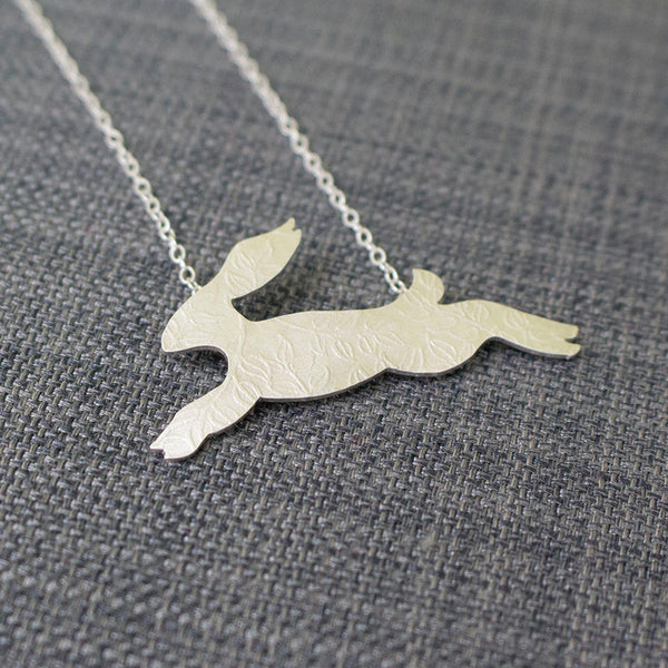 sterling silver hare necklace at Joanne Tinley Jewellery