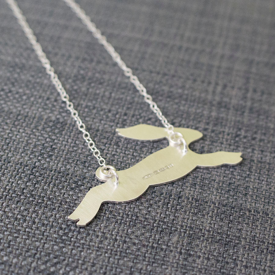Watercolour small hare necklace joanne tinley jewellery sterling silver hare necklace at joanne tinley jewellery aloadofball Gallery