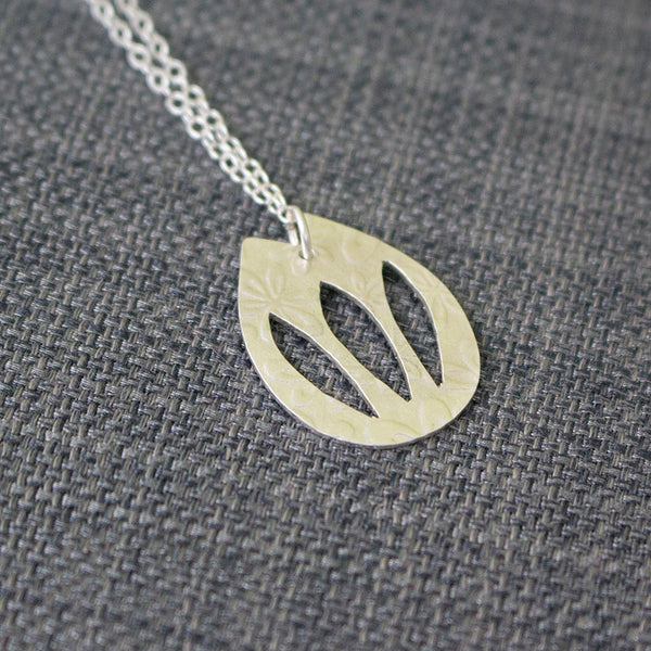 Sterling Silver tulip pendant at Joanne Tinley Jewellery