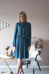 Borghild Preppy Dress - petrol
