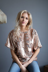 Hilde Sequin Blouse fra Secrets by B