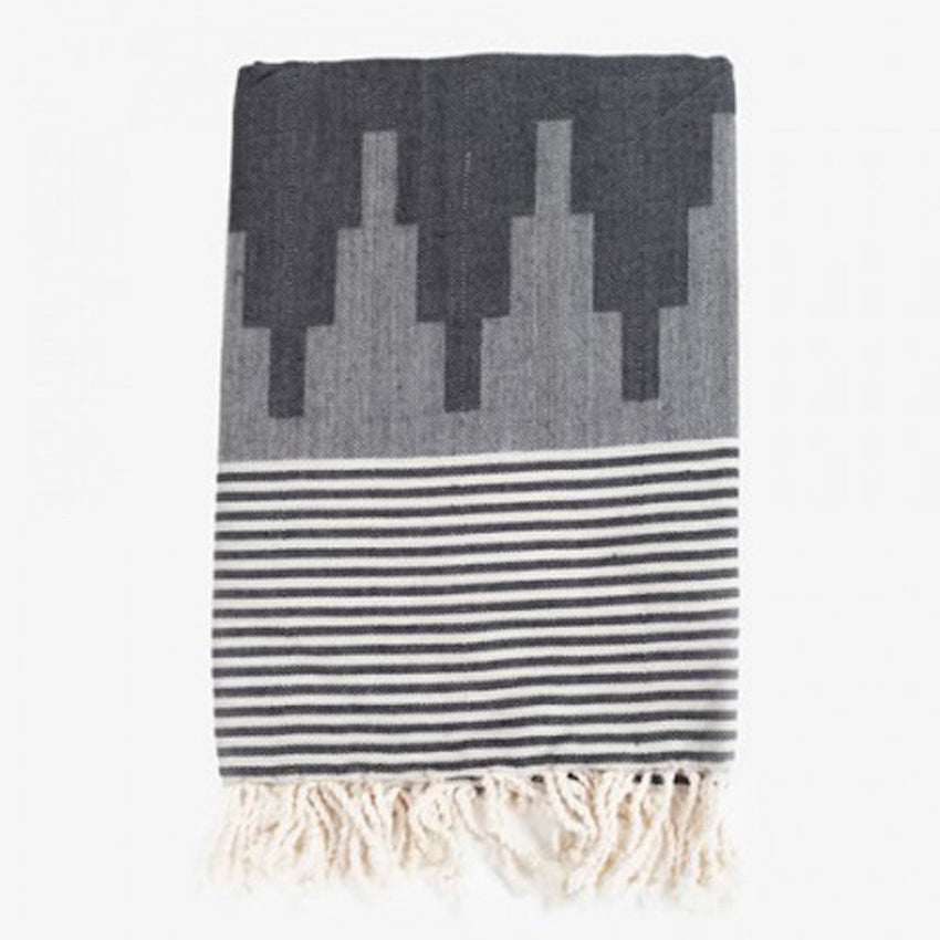 House of Rym Fouta Grå og Sort - Design Bazaar