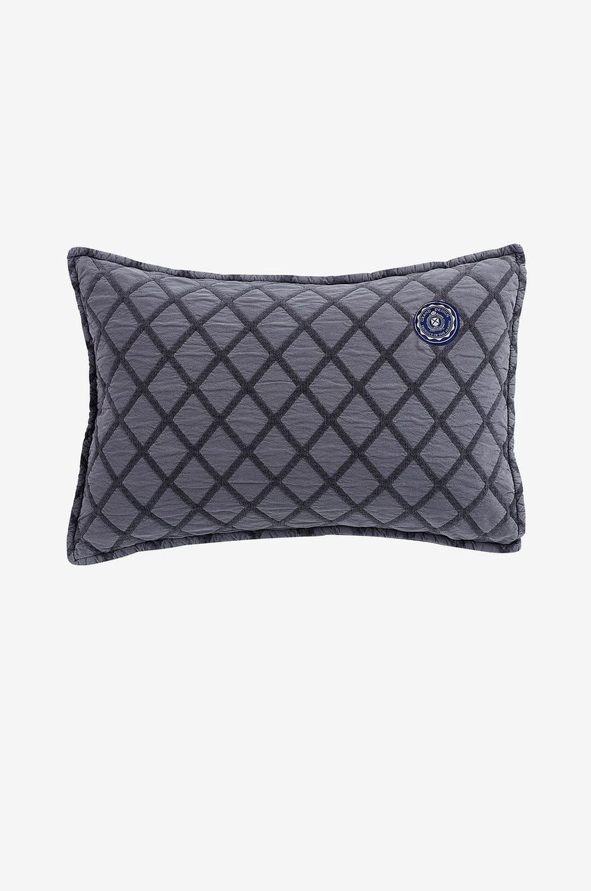 Grand Design Dunblane Diamond Pillowcase Grey - Putetrekk grå