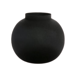 Metal ball vase black