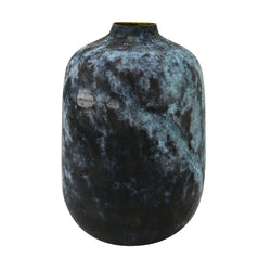 Eroded brass vase