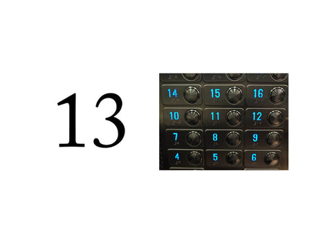 number 13 (symbols to avoid #8)