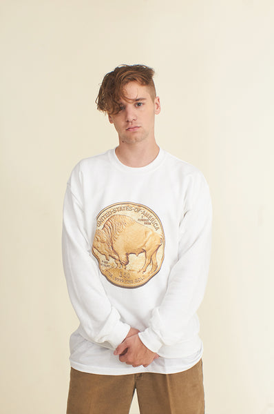 Gold Buffalo Coin Buffalo Commemorate Symbol Unisex Sweatshirt