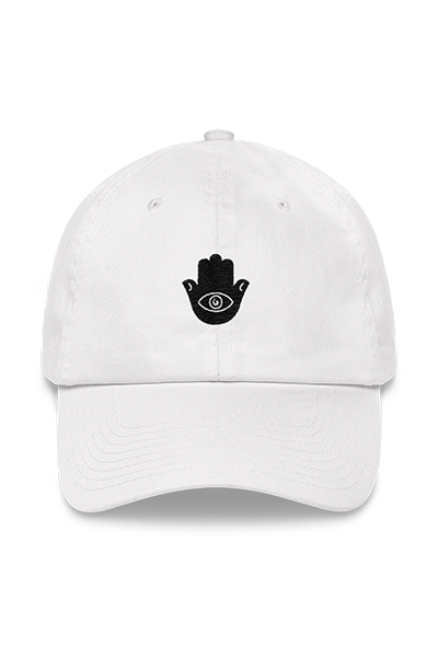 Embroidered Hamsa Unisex Dad hat (Pearl White)