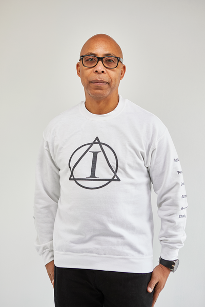 ADDICTIONS II:  Accept, Recover, Change - Long Sleeve Sweat Shirt with Sleeve Printing