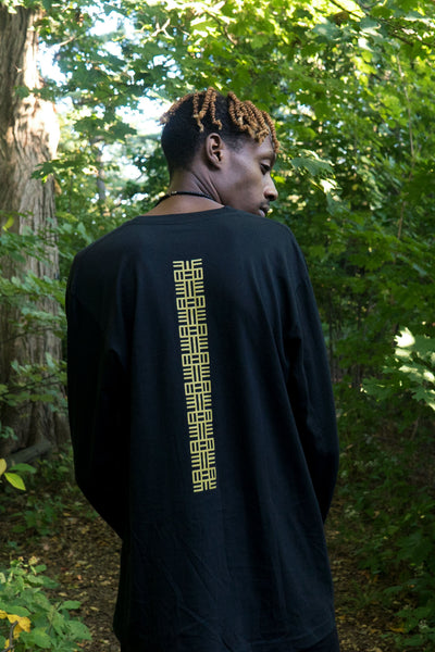 Adinkra Knowledge Symbol: Nea Onnim No Sua A, Oh - Unisex Long Sleeve T-shirt
