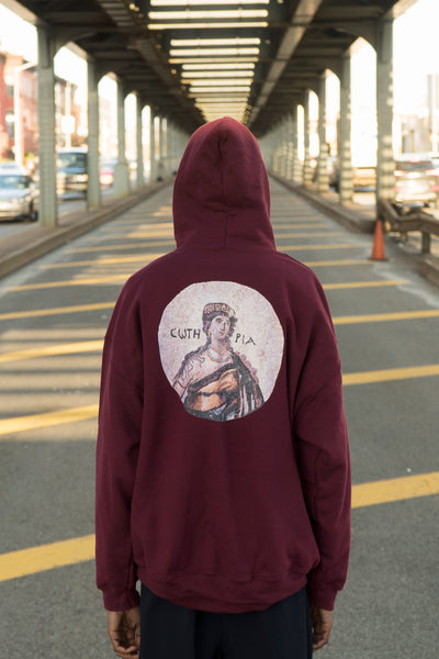 Soteria (Σωτηρία) the Greek Goddess of Safety Symbol - Unisex Hoodie (Rosewood)
