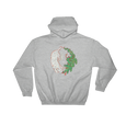 Feng Shui White Tiger & Green Dragon Universal Balance Symbol - Unisex Hooded Sweatshirt