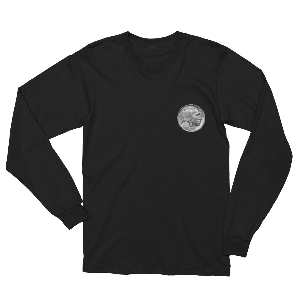 Native American Nickel (Native American Commemorate Symbol) - Unisex Long Sleeve T-Shirt