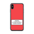 iPhone Social Media Warning Symbol Case 2020 - Sunset Red Colorway (All the latest iPhone models)
