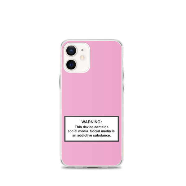 iPhone Social Media Warning Symbol Case 2020 - Off Pink Colorway (All iPhone models from iPhone 7 up to iPhone 12)
