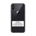 iPhone Social Media Warning Symbol Case 2020 - Clear (All iPhone models from iPhone 7 up to iPhone 12)