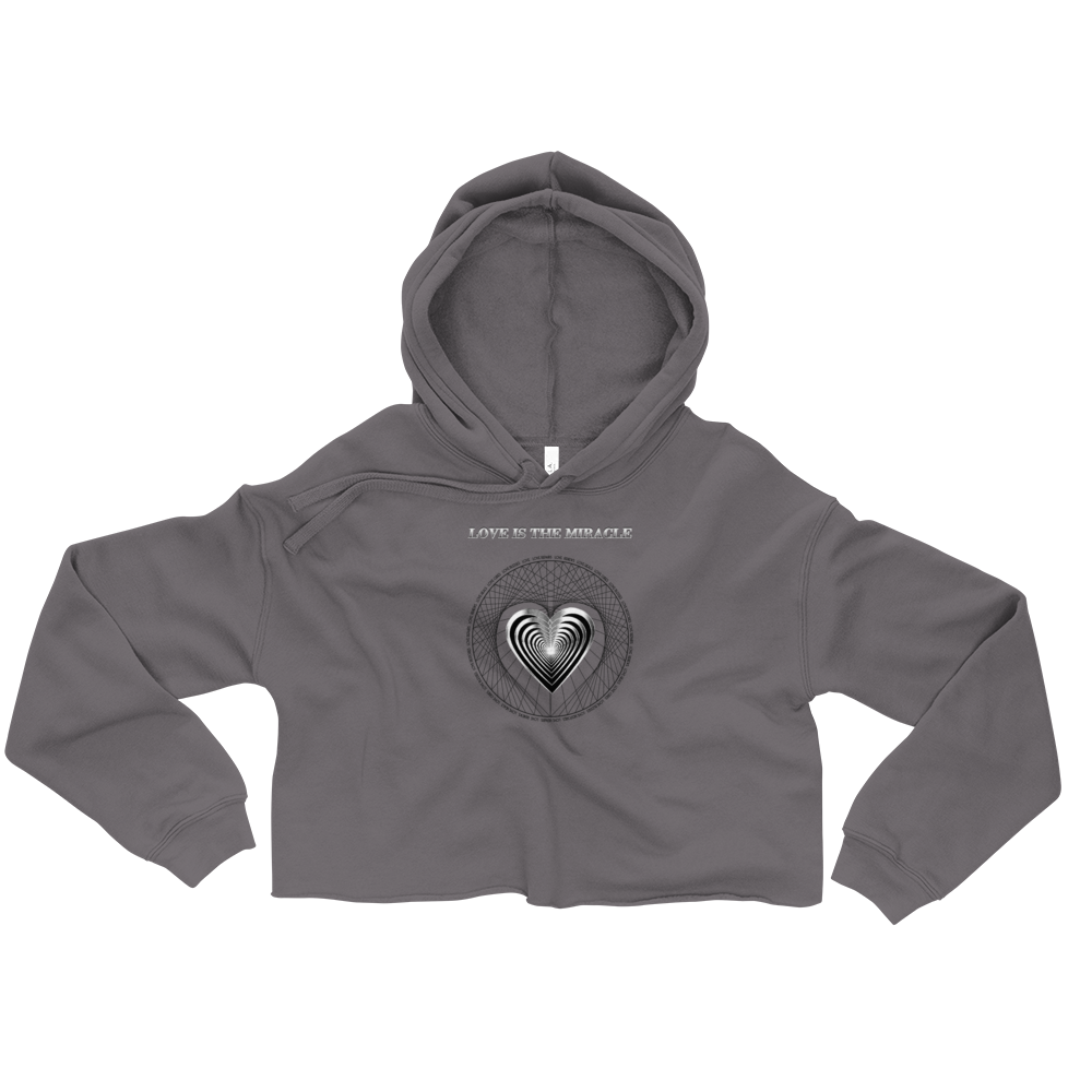 LOVE VIBRATIONS:  The Healing Miracle - Crop Hoodie