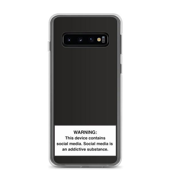 Samsung Social Media Warning Symbol Phone Case (Galaxy S10, S10+, S10e, S9, S9+, S8, S8+, S7 & S7 Edge - Midnight Colorway)