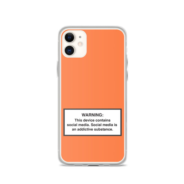 iPhone Social Media Warning Symbol Case 2020 - Sunrise Orange Colorway (Latest iPhone models from iPhone 12 all the way down to iPhone 7)