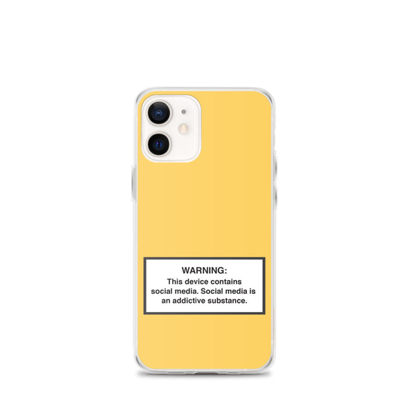 Phone Social Media Warning Symbol Case 2020 - Mellow Yellow Colorway (All iPhone models from iPhone 7 up to iPhone 12)