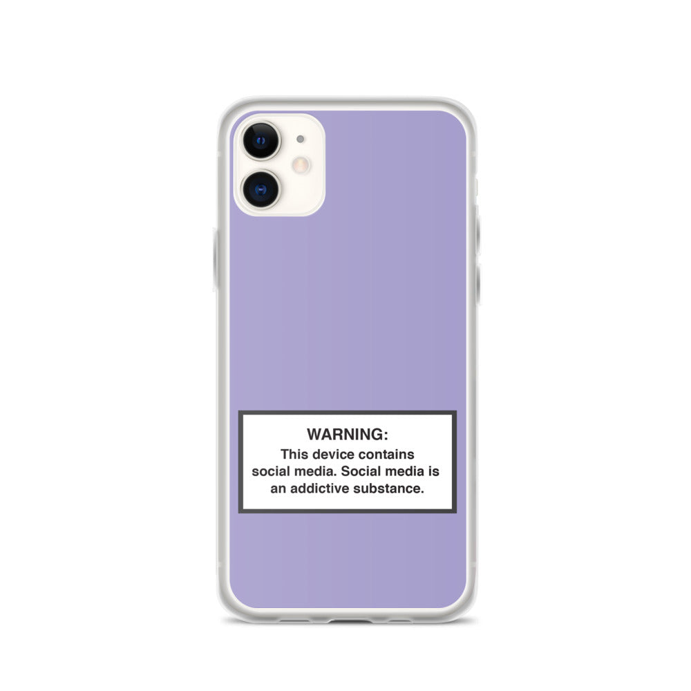 iPhone Social Media Warning Symbol Case 2020 - Kind of Purple Colorway (All iPhone models from iPhone 7 up to iPhone 12)