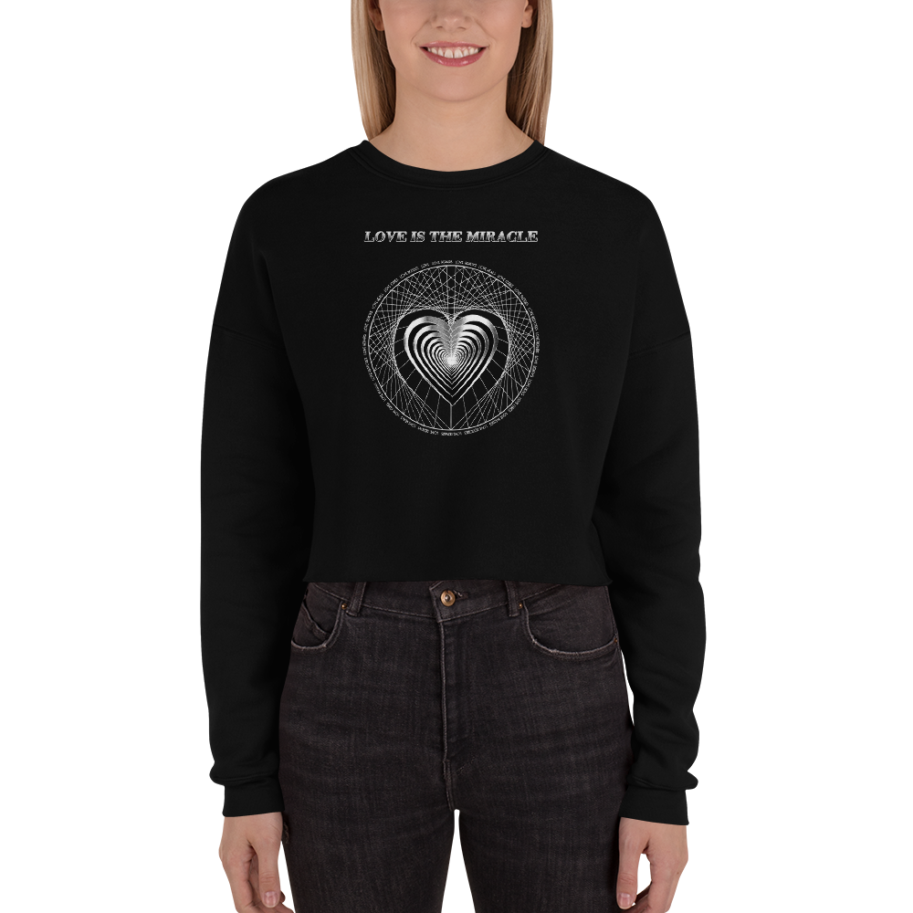 LOVE VIBRATIONS: The Healing Miracle - Crop Sweatshirt (Retro Version)