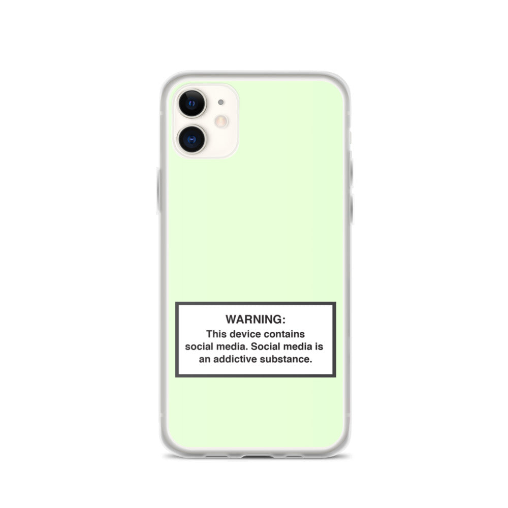 iPhone Social Media Warning Symbol Case 2020 - Light Mint Colorway (All iPhone models from iPhone 7 up to iPhone 12)