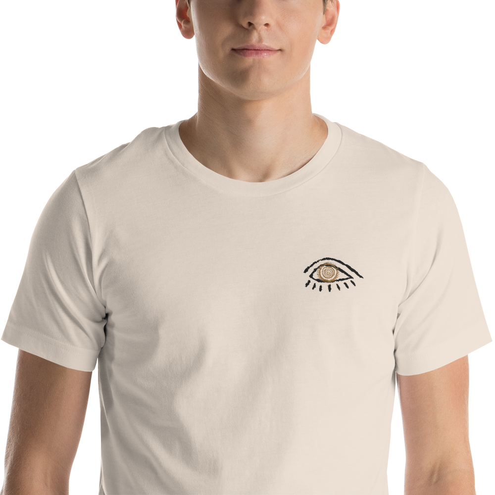 MEDICINE MAN'S EYE: Visionary Healing Knowledge - Short Sleeve Embroidery Unisex T-Shirt