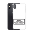 iPhone Social Media Warning Symbol Case 2020 - Snow White Colorway (All iPhone models from iPhone 7 up to iPhone 12)