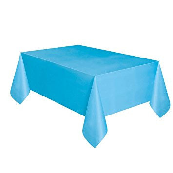 Rectangle Table Cover By Dluxware Aqua 1 Pack Premium Disposable Plastic Tablecloth 54 Inch x 108 Inch