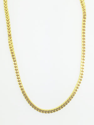 9ct Gold Franco Chain 3mm 21g 30inch - SD JEWELS