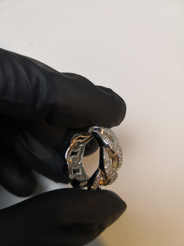 Iced out Cuban link ring - SD JEWELS