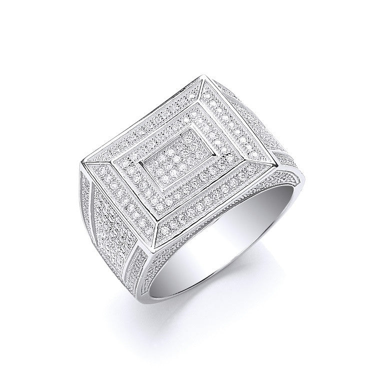 Mens Silver Rings with CZ stones - SD JEWELS