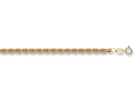 "Yellow Gold Hollow Rope Chain 24"" - 30"" - SD JEWELS"