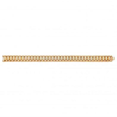 Yellow Gold Rolex Link Gents Bracelet - SD JEWELS