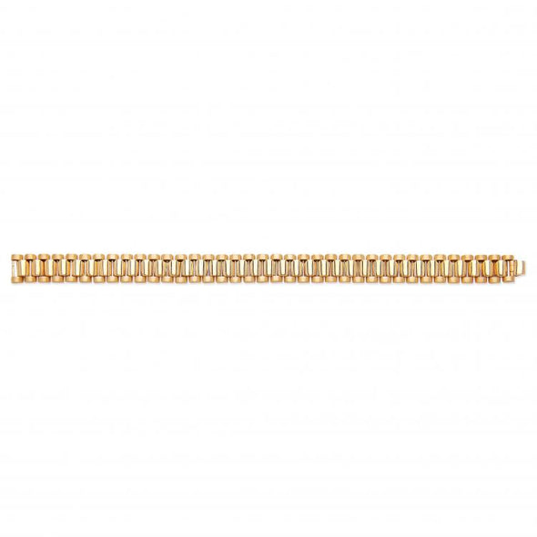 Yellow Gold Rolex Link Gents Bracelet XXL - SD JEWELS