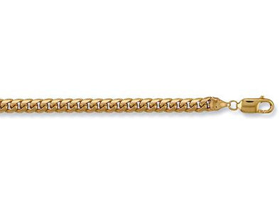 Yellow Gold Domed Curb Chain - SD JEWELS