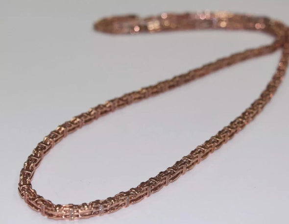 Chain Rose GOLD Plated with CZ Stones 36inches 105g - SD JEWELS