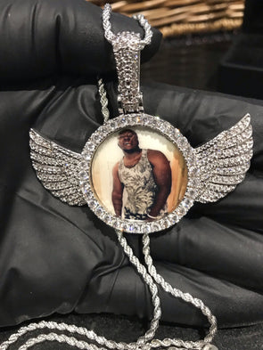 Winged Photo Pendant - SD JEWELS