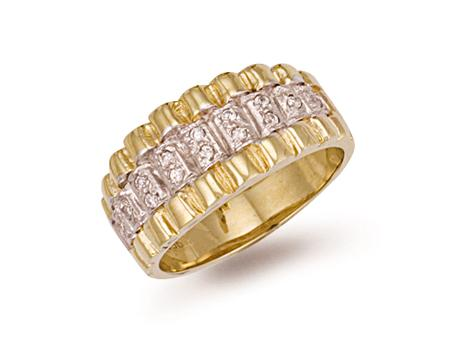 9ct Yellow Gold Cz Ring 10g