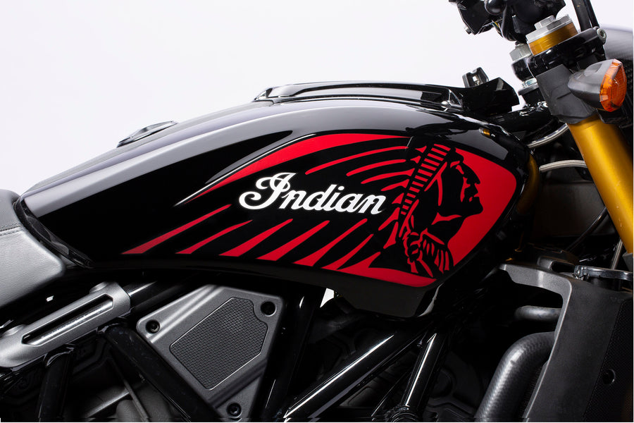 FTR 1200 Tank Covers in Gloss Black with Graphics, Pair
