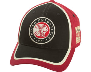 Circle Patch Hat - Red/Black
