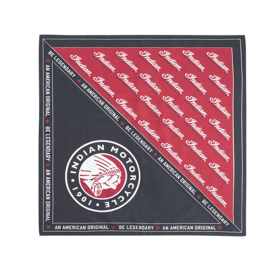 Be Legendary Bandana, Black/Red