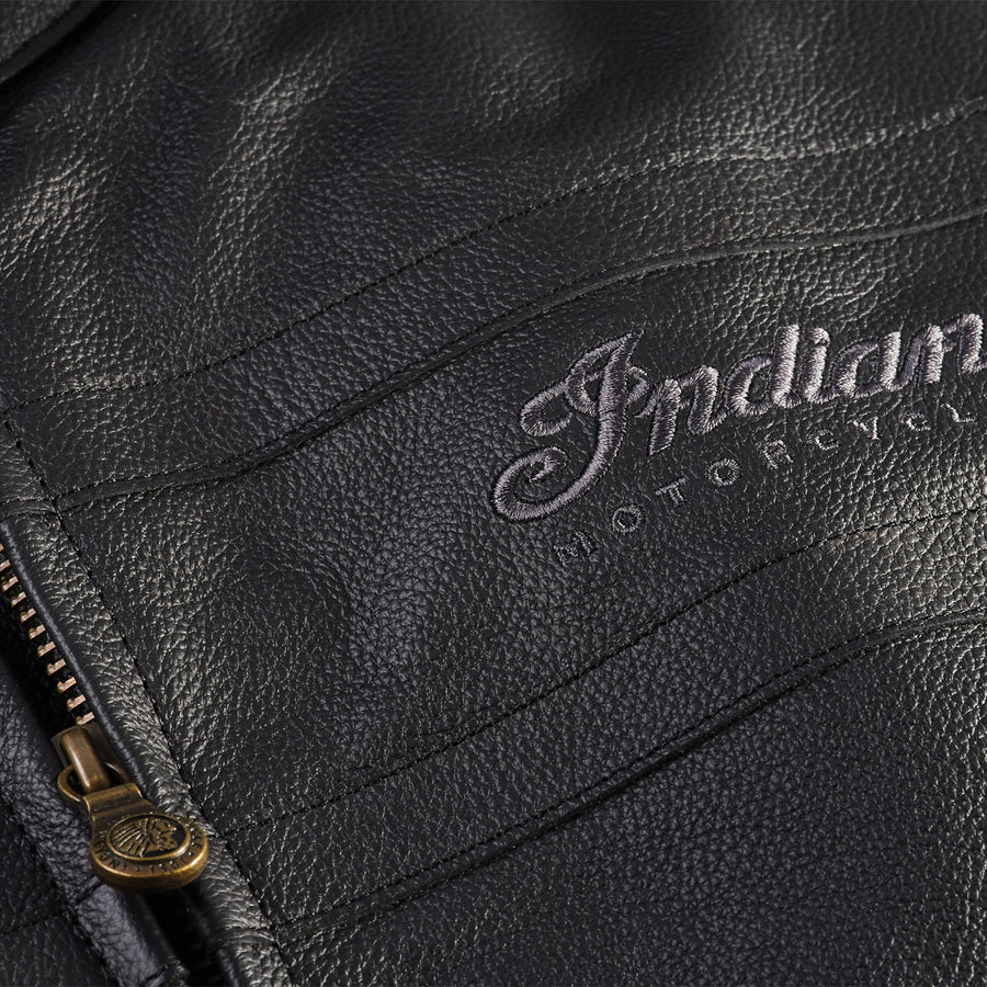 Men's Leather Beckman Riding Jacket with Removable Lining, Black