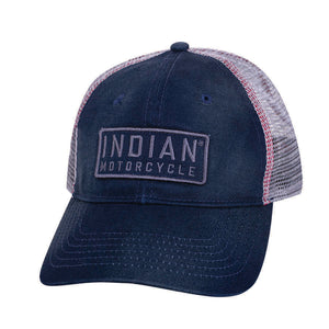 Block Patch Trucker Hat, Navy